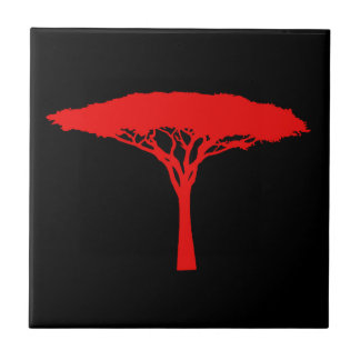 Carreau Arbre de parapluie rouge