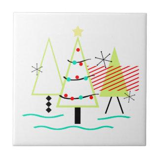 Carreau arbres de Noël modernes de la moitié du siècle