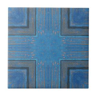 Carreau arrière - plan en bois bleu