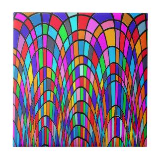 Carreau Art abstrait de mosaïque multicolore en verre