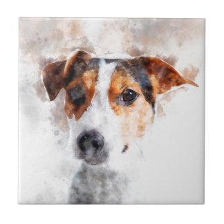 Carreau Art d'aquarelle de Jack Russell Terrier
