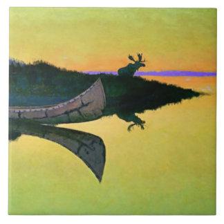 """Carreau Art occidental de Frederic Remington """"venant à"""