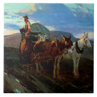 "Carreau Art occidental la ""Californie ou Orégon "" de Frank"