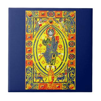 Carreau Art populaire bizantin Jésus