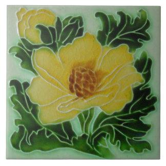 Carreau Artisan floral d'art de majolique vintage de