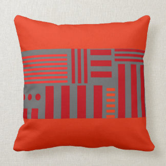 "Carreau avec la conception ""de rayures de radis"" oreiller"