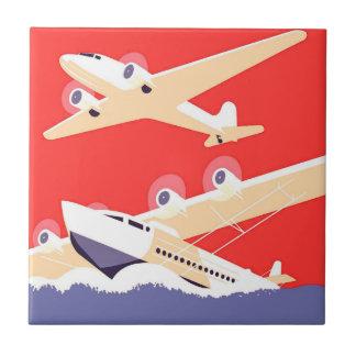 Carreau Avions pilotant les avions de propulseur vintages