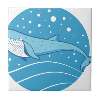 Carreau Baleine bleue