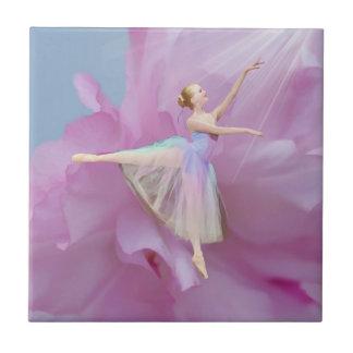 Carreau Ballerine colorée dans l'arabesque personnalisable