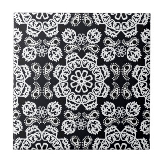 mandala noir et blanc carreaux mandala noir et blanc. Black Bedroom Furniture Sets. Home Design Ideas