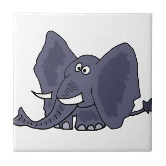 Carreau Bande dessinée bleue drôle d'éléphant