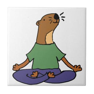 Carreau Bande dessinée de pratique mignonne de yoga de