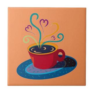 Carreau Barre Klatch de thé d'amour de tasse de café de
