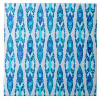 Carreau Batik tribal - gris bleu et argenté de saphir