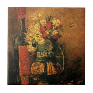 Carreau Beaux-arts romantiques de Van Gogh avec les roses