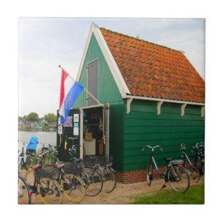 Carreau Bicyclettes, village néerlandais de moulin à vent,