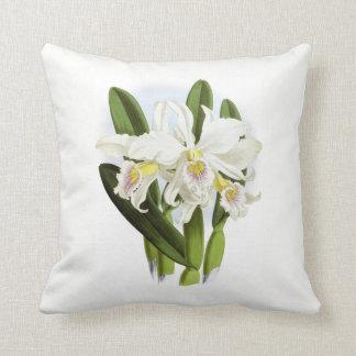 Carreau blanc d'orchidée coussin