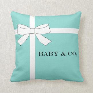 Carreau bleu de bébé de BÉBÉ et de Cie. Tiffany Coussins Carrés
