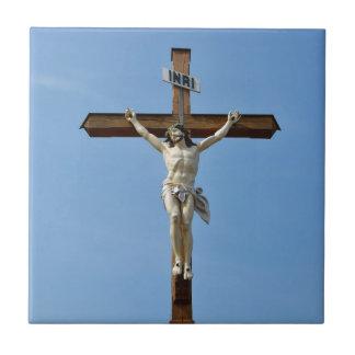 Carreau bois Jésus croisé