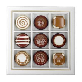 Carreau Boîte avec des bonbons au chocolat