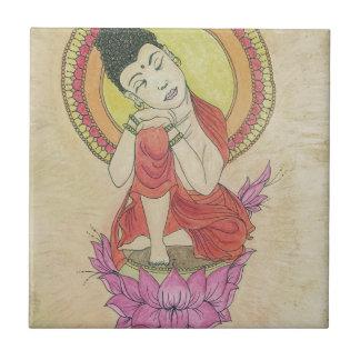 Carreau Bouddha paisible