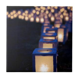Carreau bougies de lumières de Noël