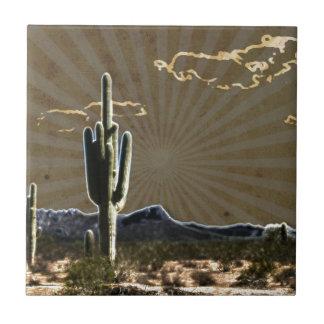 Carreau cactus succulent de Saguaro de désert du sud-ouest