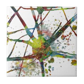 Carreau Cadeau abstrait médical de synapses