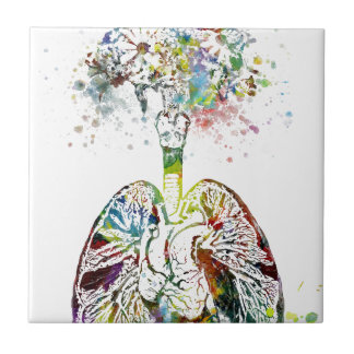 Carreau Cadeaux médicaux coeur et motif de poumons
