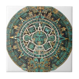 Carreau Calendrier rond antique maya aztèque de disque