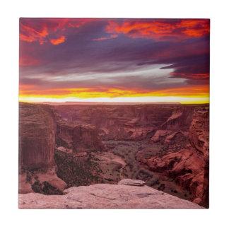 Carreau Canyon de Chelly, coucher du soleil, Arizona