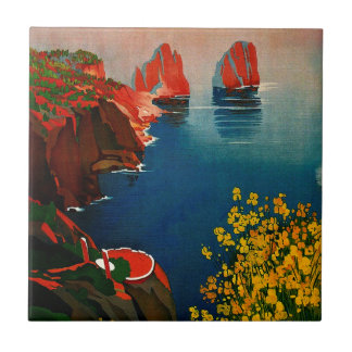 Carreau Capri vintage L'Isola del Sole Italie