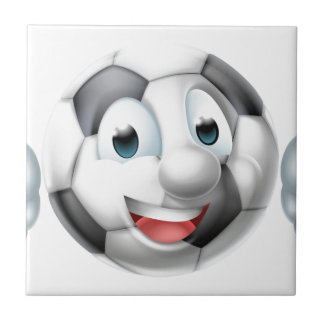 Carreau Caractère de boule du football de bande dessinée