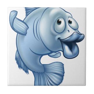 Carreau Caractère de poissons de bande dessinée