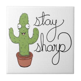 Carreau Caractère drôle de dièse de séjour de cactus