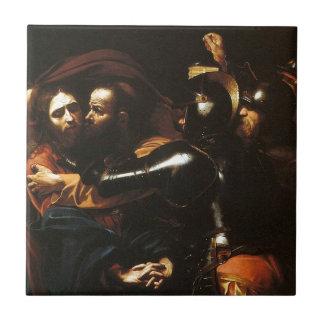 Carreau Caravaggio - prise du Christ - illustration