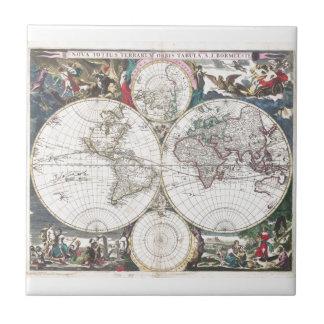 Carreau Carte 1685 carrée de pi Bormeester de tuile du