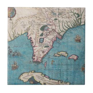 Carreau Carte antique de la Floride et du Cuba