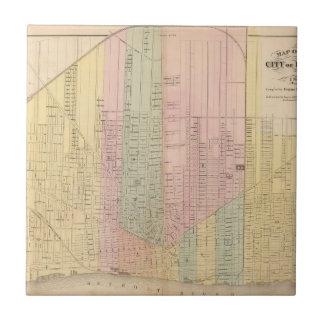 Carreau Carte de la ville de Detroit