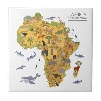 Carreau Carte de l'Afrique | Flora et faune
