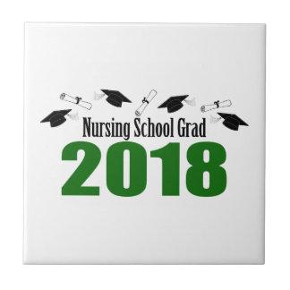 Carreau Casquettes du diplômé 2018 d'école d'infirmières