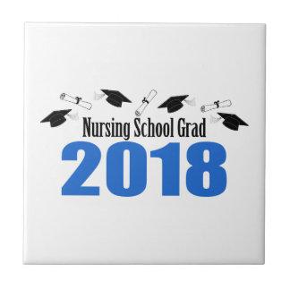 Carreau Casquettes et diplômes du diplômé 2018 d'école