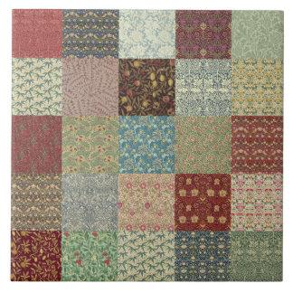 Carreau Céramique d'édredon de patchwork de William Morris