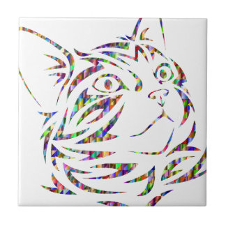 Carreau chat coloré