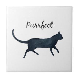 """Carreau Chat noir """"purrfect """""""