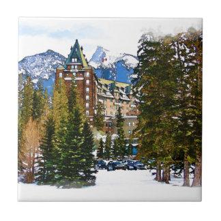 Carreau Château de montagne rocheuse - Banff Canada