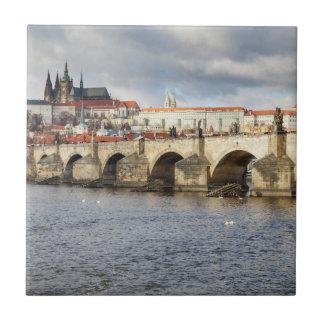 Carreau Château de Prague et photo de souvenir de pont de