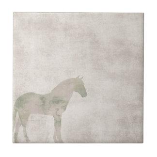 Carreau Cheval rêveur : Cheval d'aquarelle sur le brun de