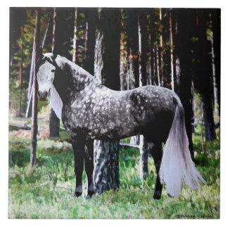 """Carreau """"Cheval tuile dans forêt"""""""