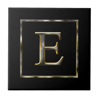 Carreau Choisissez votre propre tuile d'initiale en métal